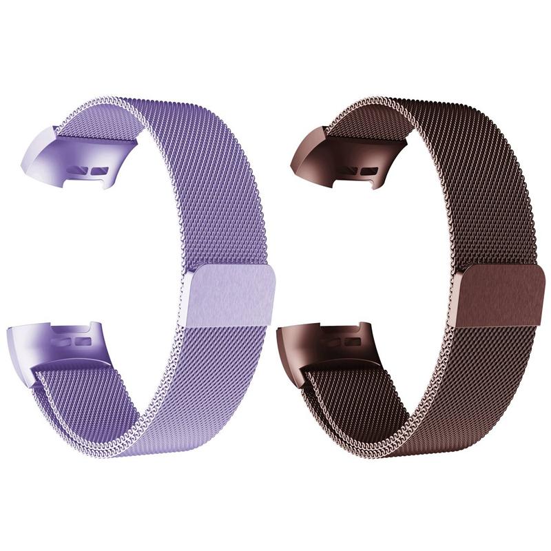 Bracelet-de-Montre-Intelligente-Bracelet-en-Acier-Inoxydab-le-Milanais-Fitn-M5U8 miniature 13