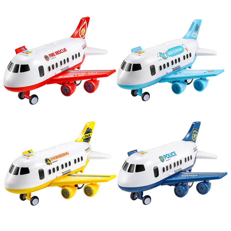 Juguete-para-NinOs-AvioN-NinO-Bebe-MuSica-de-Gran-TamanO-Pista-Inercia-Jugu-F1N5 miniatura 8