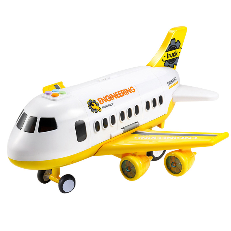 Juguete-para-NinOs-AvioN-NinO-Bebe-MuSica-de-Gran-TamanO-Pista-Inercia-Jugu-F1N5 miniatura 16