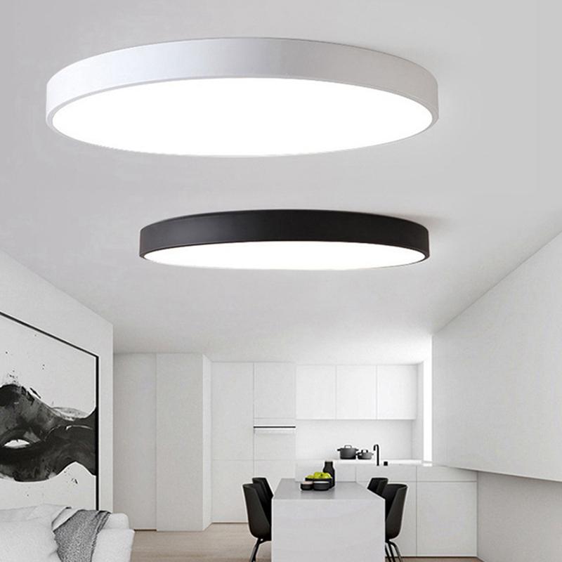 Details Sur 2x 5 Cm Led Ultra Mince Plafonnier Moderne Lampe Salon Luminaire Chambre Cu R5l5