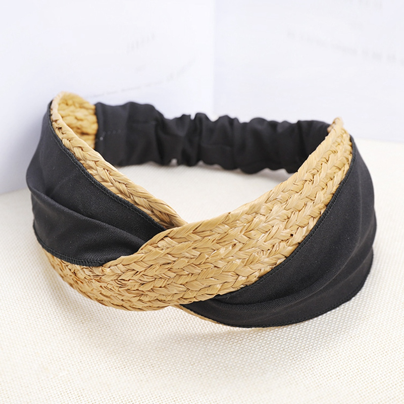 Bohemian-Vintage-Straw-Weaving-Headband-Hairband-Hair-Accessories-G6U2 thumbnail 3
