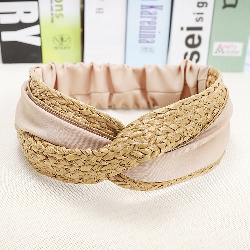 Bohemian-Vintage-Straw-Weaving-Headband-Hairband-Hair-Accessories-G6U2 thumbnail 17