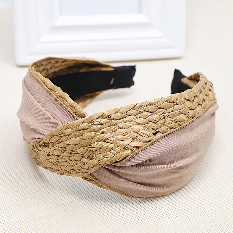 Bohemian-Vintage-Straw-Weaving-Headband-Hairband-Hair-Accessories-G6U2 thumbnail 19