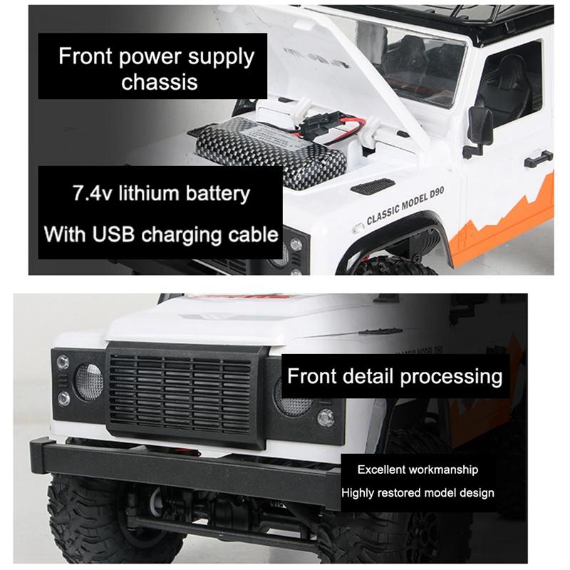 MN99-1-12-2-4G-4WD-RTR-Crawler-RC-Car-para-Land-Rover-70-Anniversary-Editio-J9V6 miniatura 16