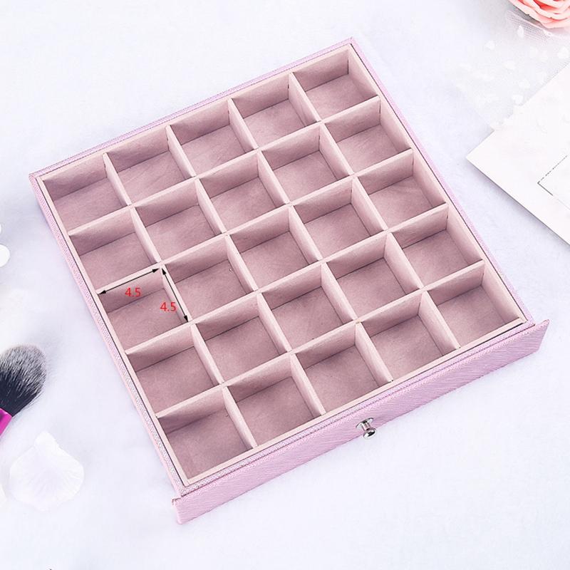 Caja-de-JoyeriA-PortaTil-de-MuLtiples-Capas-de-Cuero-de-Gran-Capacidad-Orga-Z9V4 miniatura 5