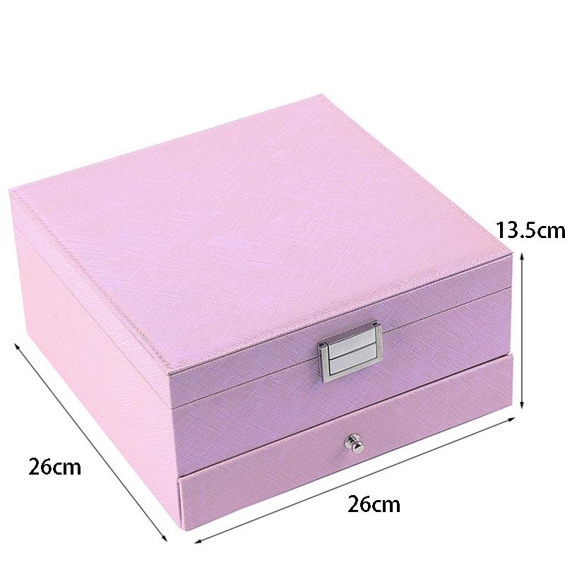 Caja-de-JoyeriA-PortaTil-de-MuLtiples-Capas-de-Cuero-de-Gran-Capacidad-Orga-Z9V4 miniatura 11