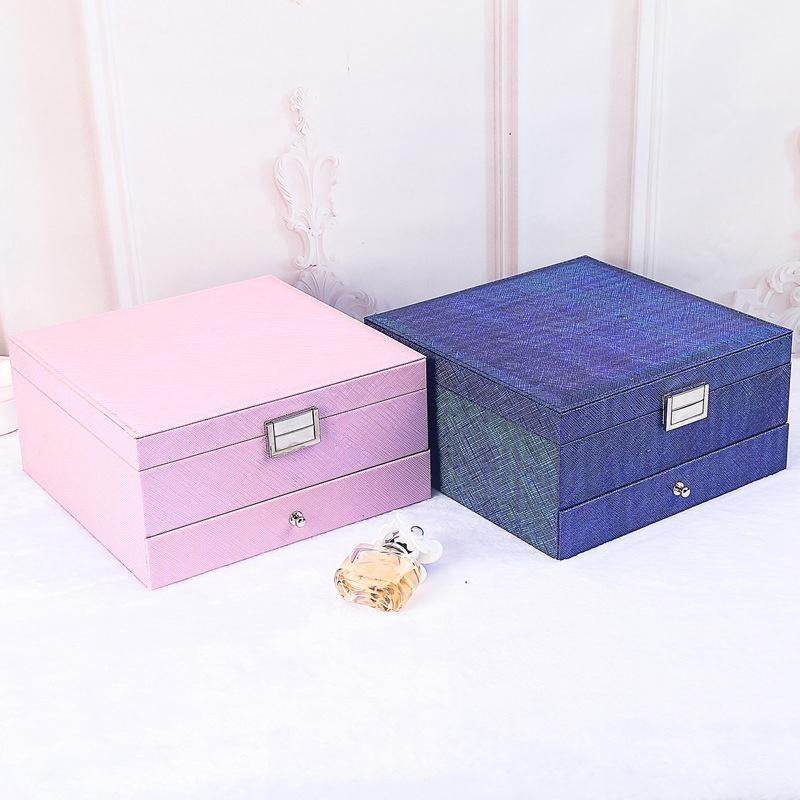 Caja-de-JoyeriA-PortaTil-de-MuLtiples-Capas-de-Cuero-de-Gran-Capacidad-Orga-Z9V4 miniatura 14