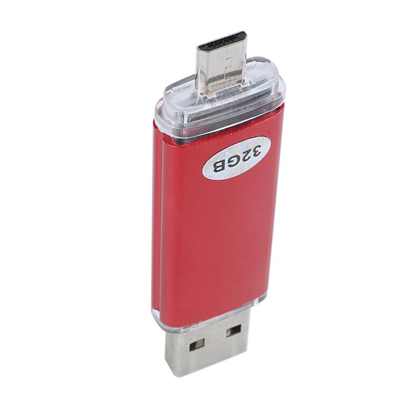 Memoria-32GB-USB-Unidad-OTG-mini-USB-Unidad-de-flash-para-ordenador-portat-V1B miniatura 13