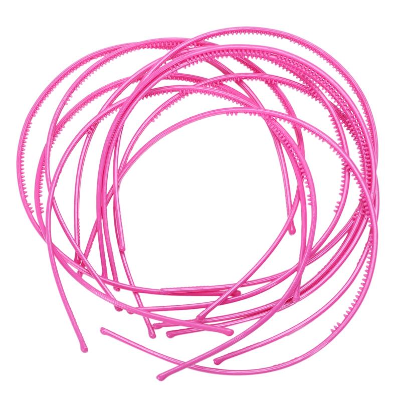 10-PCS-Serre-tete-bandeau-cheveux-accessoire-fille-femme-plastique-headband-L7W7 miniature 15