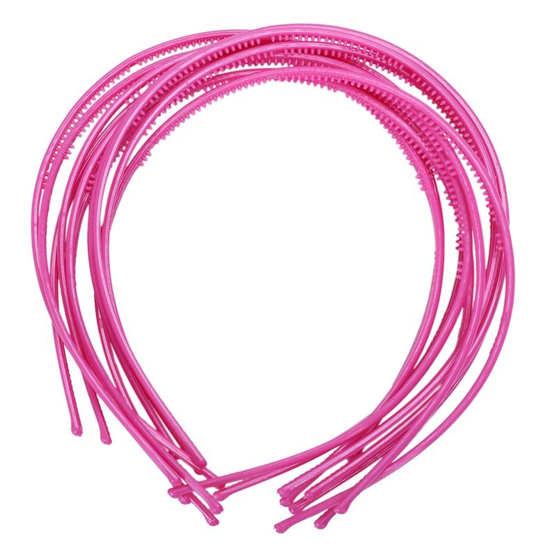 10-PCS-Serre-tete-bandeau-cheveux-accessoire-fille-femme-plastique-headband-L7W7 miniature 14