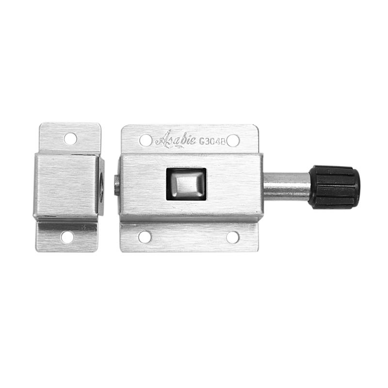 Edelstahl Spring Loaded Push Button 6 cm lang Tor Tuer Schlossfalle Y9H2 N5H6