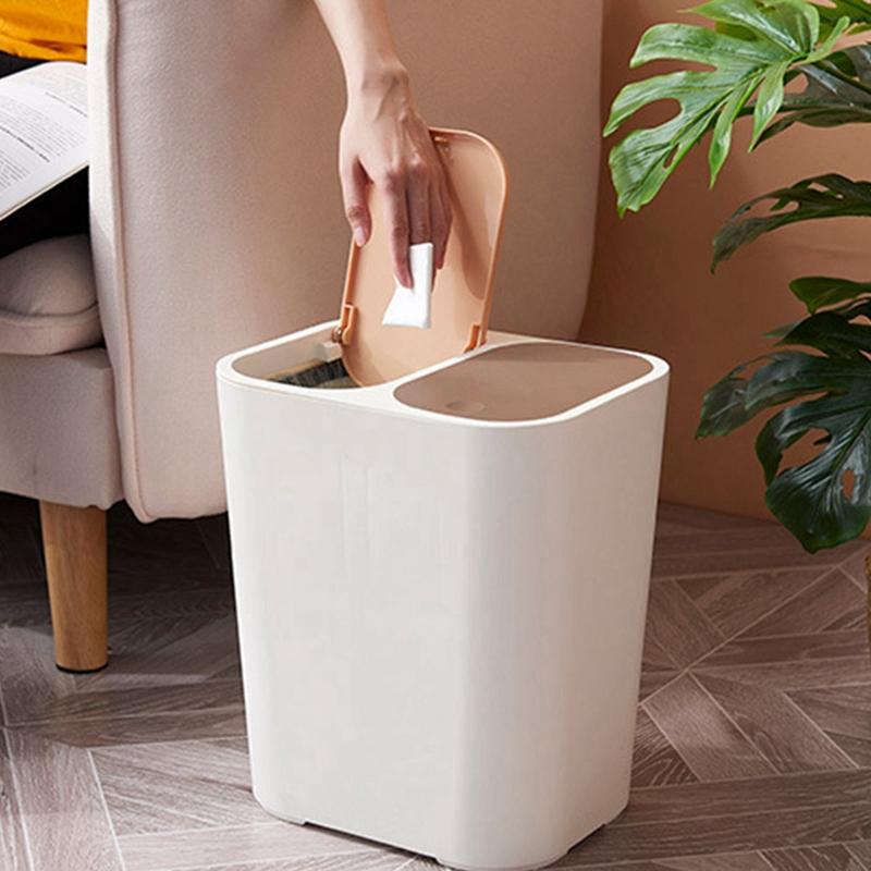 Abfalleimer-MueLleimer-Kreative-Haushalt-UBerdachte-KueChe-Badezimmer-Wohnzim-I4K9 Indexbild 7