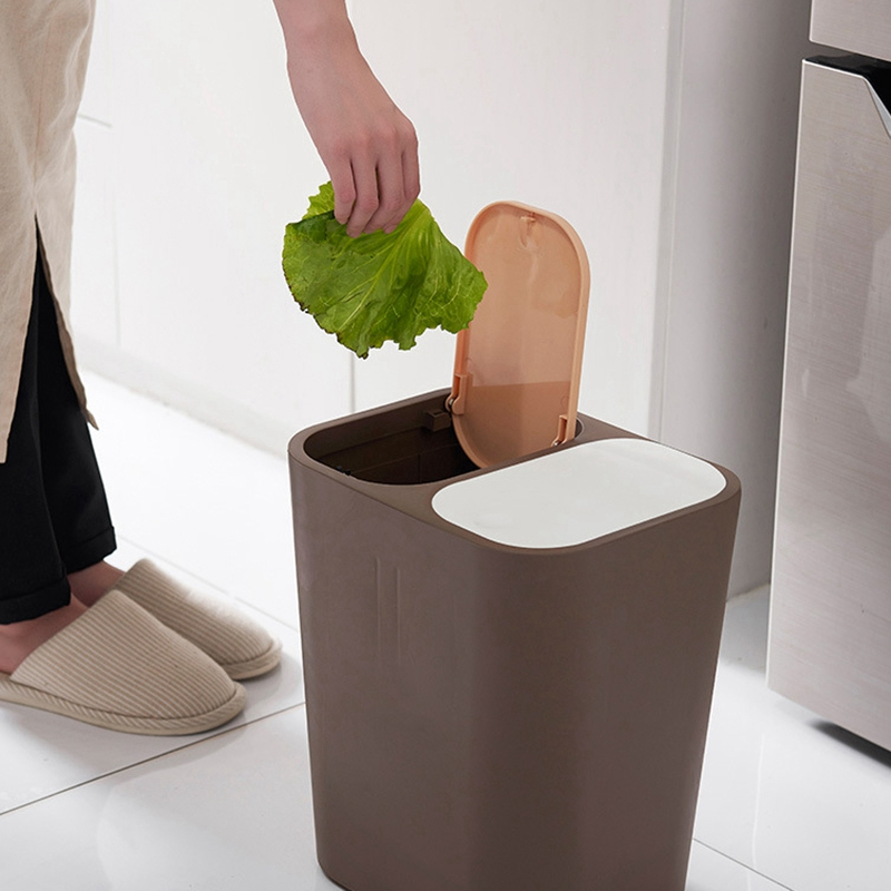 Abfalleimer-MueLleimer-Kreative-Haushalt-UBerdachte-KueChe-Badezimmer-Wohnzim-I4K9 Indexbild 8