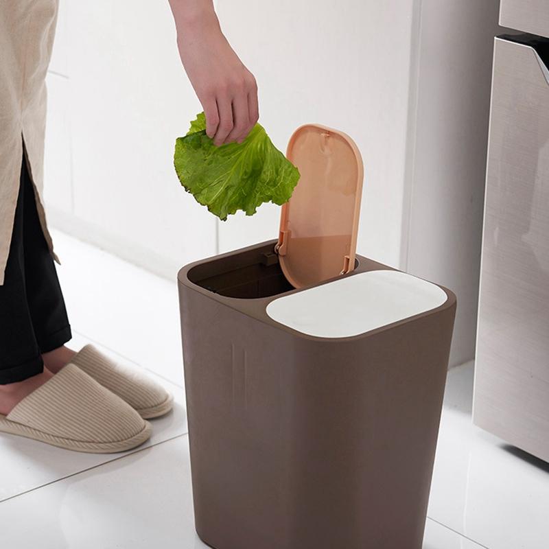 Abfalleimer-MueLleimer-Kreative-Haushalt-UBerdachte-KueChe-Badezimmer-Wohnzim-I4K9 Indexbild 15