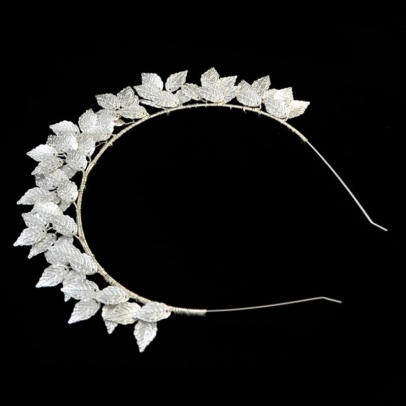 Fashion-Leaf-Flower-Hoop-Crown-Gold-Silver-Headband-Bridal-Headdress-WeddinP7S5 thumbnail 3