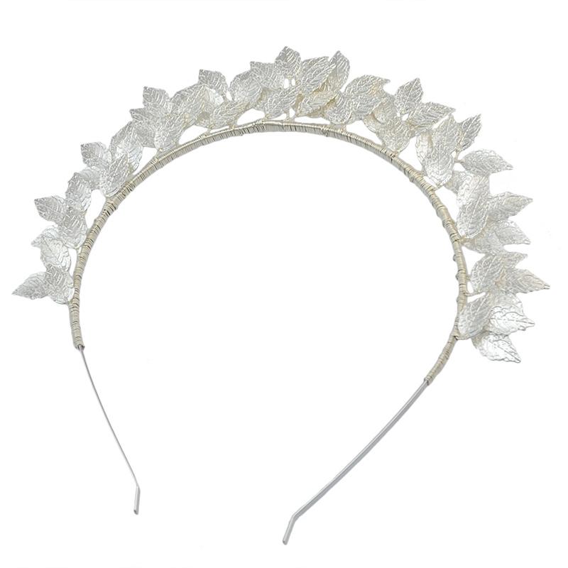 Fashion-Leaf-Flower-Hoop-Crown-Gold-Silver-Headband-Bridal-Headdress-WeddinP7S5 thumbnail 6