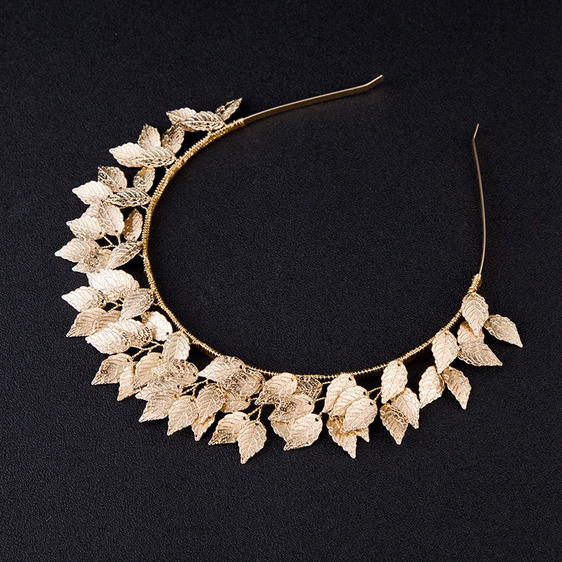 Fashion-Leaf-Flower-Hoop-Crown-Gold-Silver-Headband-Bridal-Headdress-WeddinP7S5 thumbnail 19