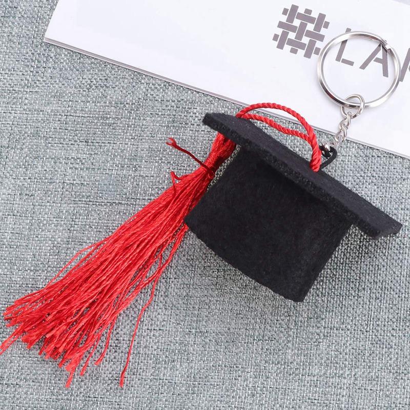 Graduation-Plush-Dr-Cap-Metal-Pendant-Keychain-Doctoral-Hat-Shaped-Charm-K-O2K1 thumbnail 14