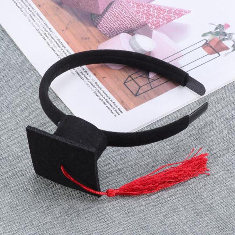Mini-Capuchon-Doctoral-Bande-de-Cheveux-Partie-Coiffe-SteReOscopique-Headpi-J6N1 miniature 5