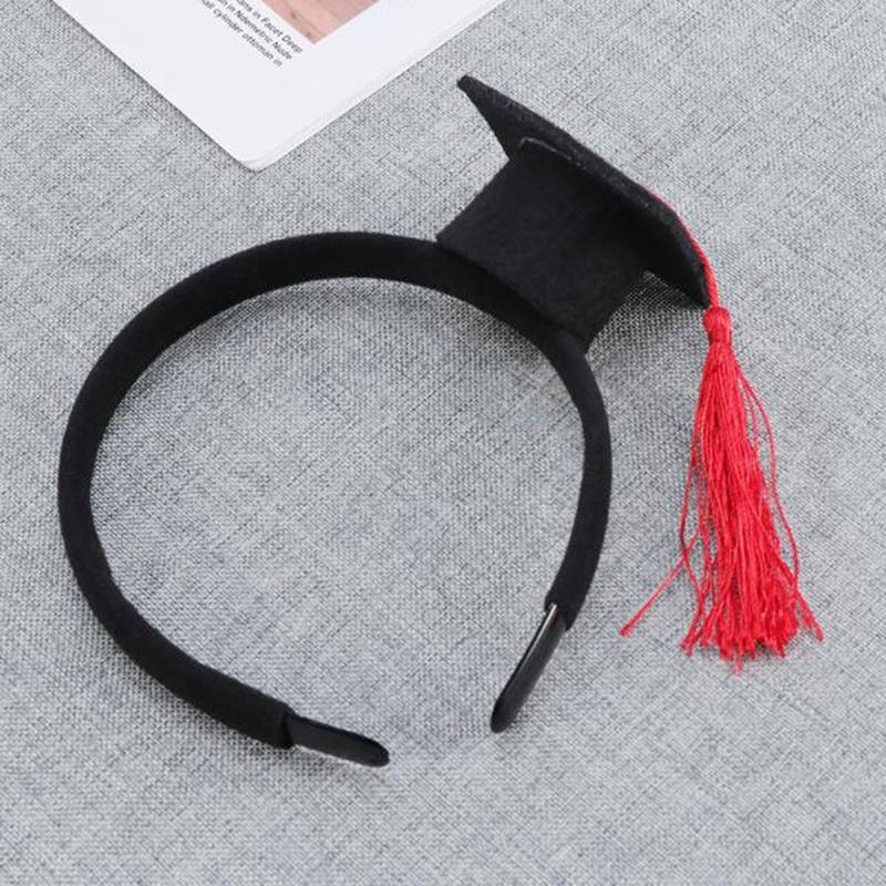 Mini-Capuchon-Doctoral-Bande-de-Cheveux-Partie-Coiffe-SteReOscopique-Headpi-J6N1 miniature 6