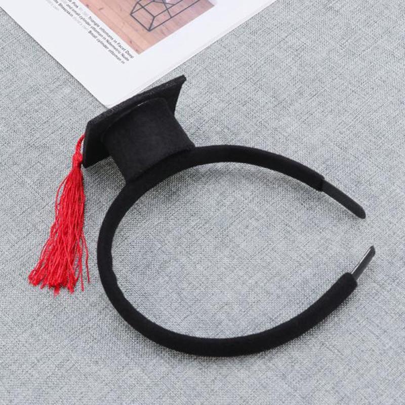 Mini-Capuchon-Doctoral-Bande-de-Cheveux-Partie-Coiffe-SteReOscopique-Headpi-J6N1 miniature 7