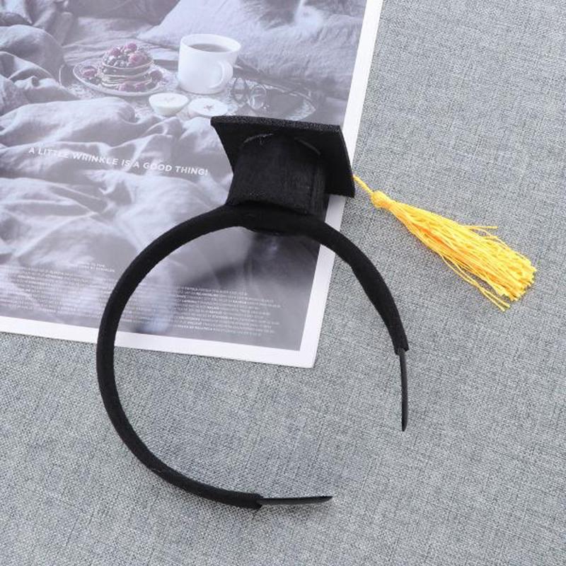 Mini-Capuchon-Doctoral-Bande-de-Cheveux-Partie-Coiffe-SteReOscopique-Headpi-J6N1 miniature 14