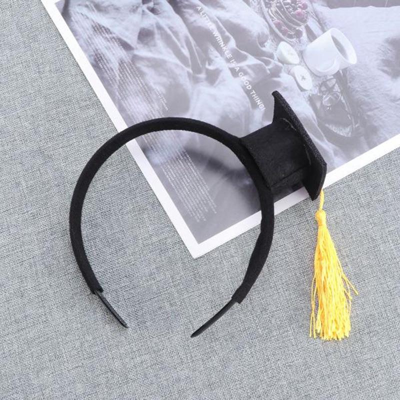 Mini-Capuchon-Doctoral-Bande-de-Cheveux-Partie-Coiffe-SteReOscopique-Headpi-J6N1 miniature 15