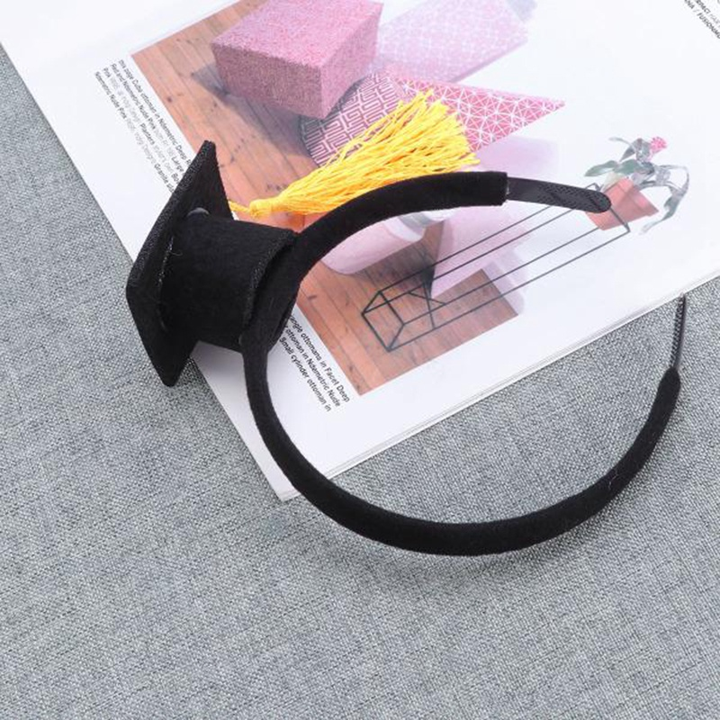 Mini-Capuchon-Doctoral-Bande-de-Cheveux-Partie-Coiffe-SteReOscopique-Headpi-J6N1 miniature 17