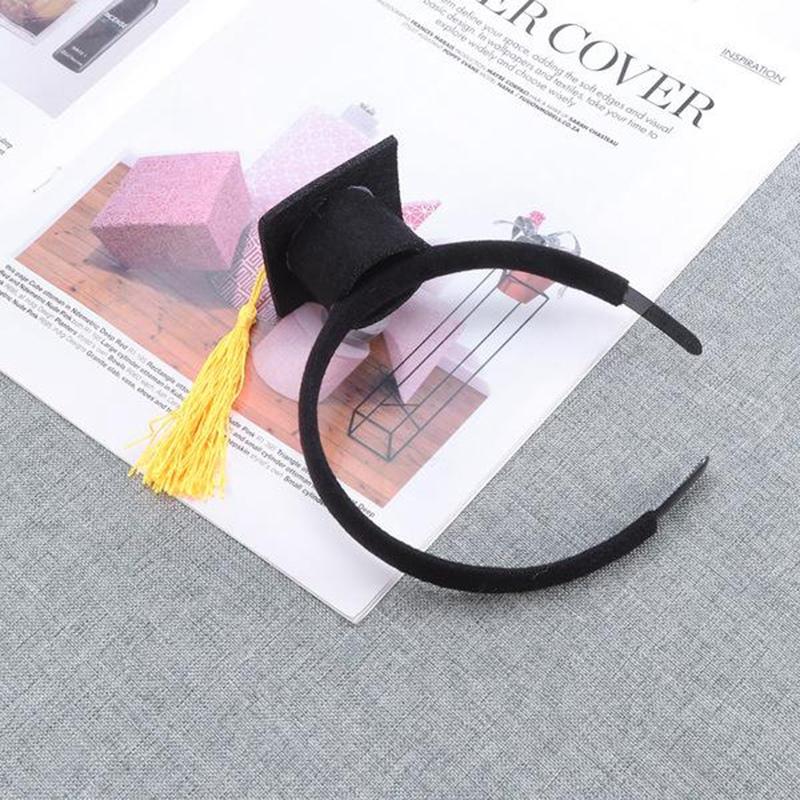 Mini-Capuchon-Doctoral-Bande-de-Cheveux-Partie-Coiffe-SteReOscopique-Headpi-J6N1 miniature 18