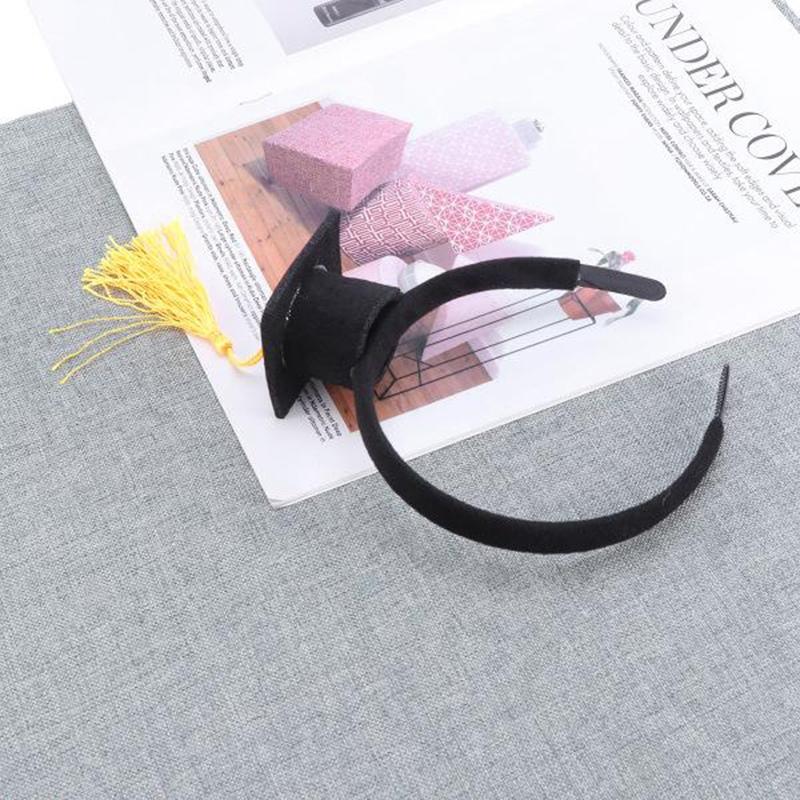 Mini-Capuchon-Doctoral-Bande-de-Cheveux-Partie-Coiffe-SteReOscopique-Headpi-J6N1 miniature 19