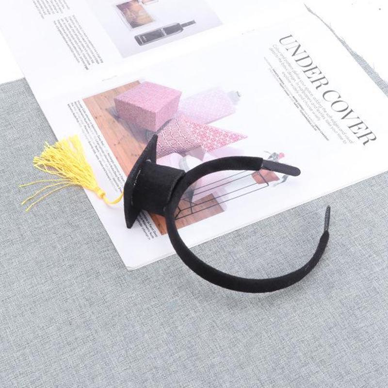 Mini-Capuchon-Doctoral-Bande-de-Cheveux-Partie-Coiffe-SteReOscopique-Headpi-J6N1 miniature 20
