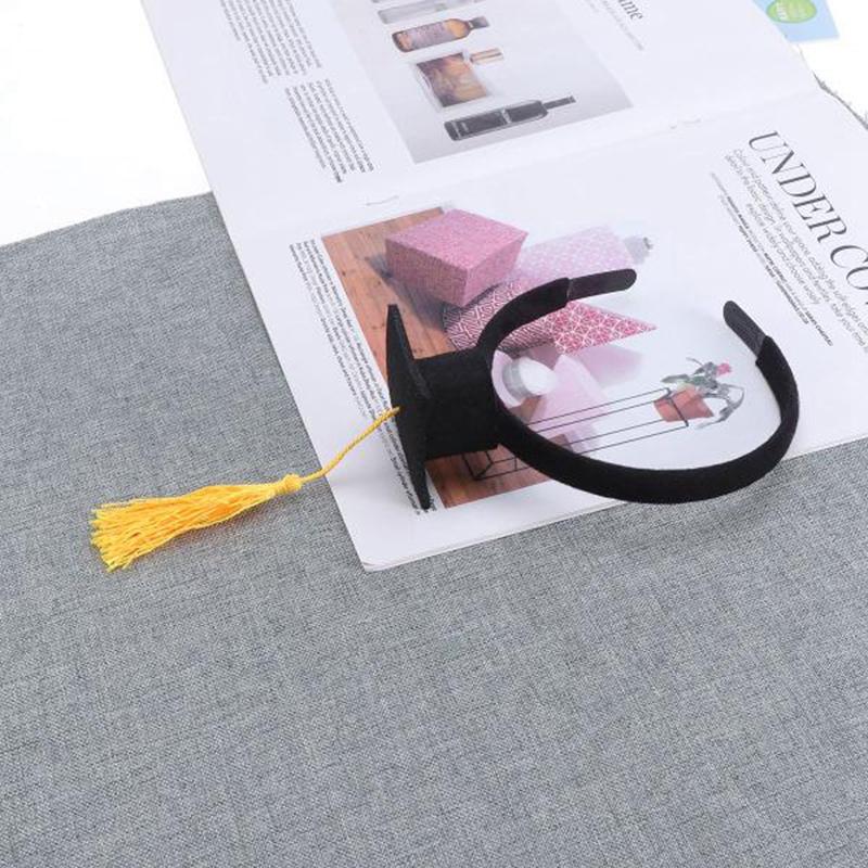 Mini-Capuchon-Doctoral-Bande-de-Cheveux-Partie-Coiffe-SteReOscopique-Headpi-J6N1 miniature 21