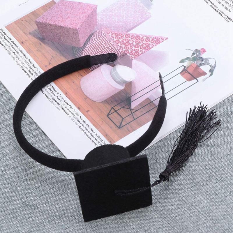 Mini-Capuchon-Doctoral-Bande-de-Cheveux-Partie-Coiffe-SteReOscopique-Headpi-J6N1 miniature 25