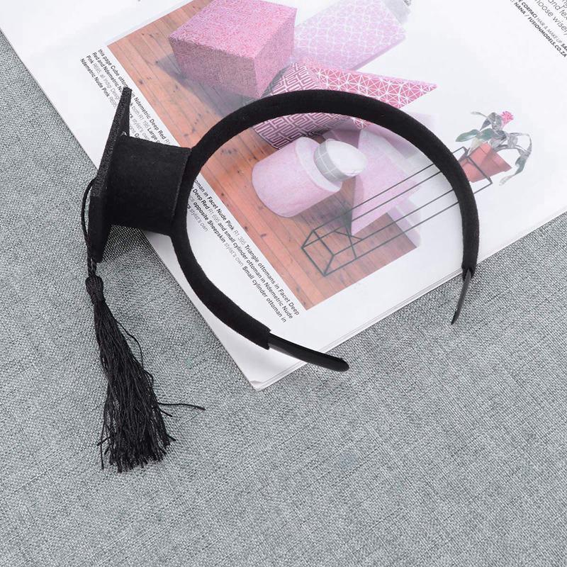 Mini-Capuchon-Doctoral-Bande-de-Cheveux-Partie-Coiffe-SteReOscopique-Headpi-J6N1 miniature 26