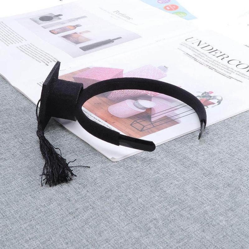 Mini-Capuchon-Doctoral-Bande-de-Cheveux-Partie-Coiffe-SteReOscopique-Headpi-J6N1 miniature 27
