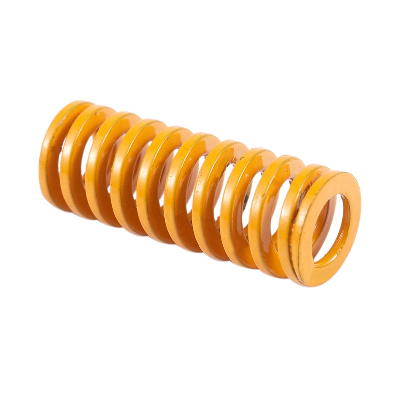 10X 8mm Outer Dia 20mm Length Light Load Compression Mould Die Spring Yellow New