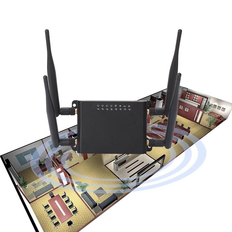 Détails sur Routeur WiFi Modem 4G LTE avec Point D'AccèS pour Carte SIM 128 Mo Openwrt R4G8