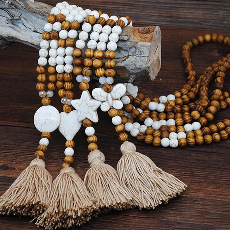 1X-Nuevo-Collar-de-JoyeriA-de-Piedra-Hecha-a-Mano-Collar-de-Borla-de-Piedra-G2M1 miniatura 27