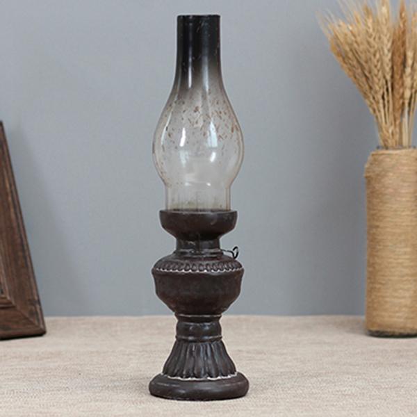Retro-Vintage-Kerosene-Lamp-Candlestick-Resin-Crafts-Ornaments-Household-Li-E3F4 thumbnail 8
