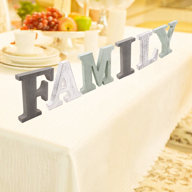1X-034-Family-034-Decorative-Wooden-Letters-Large-Wood-for-Wall-Decor-in-Rustic-WY1N8 thumbnail 4