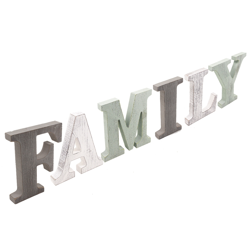 1X-034-Family-034-Decorative-Wooden-Letters-Large-Wood-for-Wall-Decor-in-Rustic-WY1N8 thumbnail 5