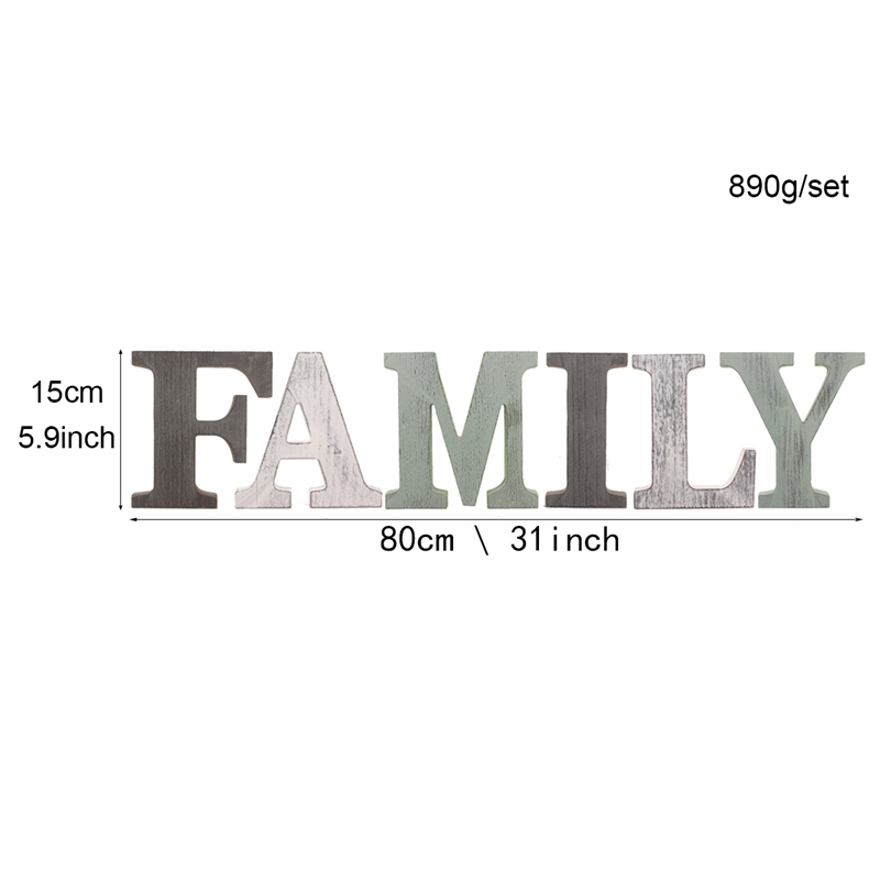 1X-034-Family-034-Decorative-Wooden-Letters-Large-Wood-for-Wall-Decor-in-Rustic-WY1N8 thumbnail 6