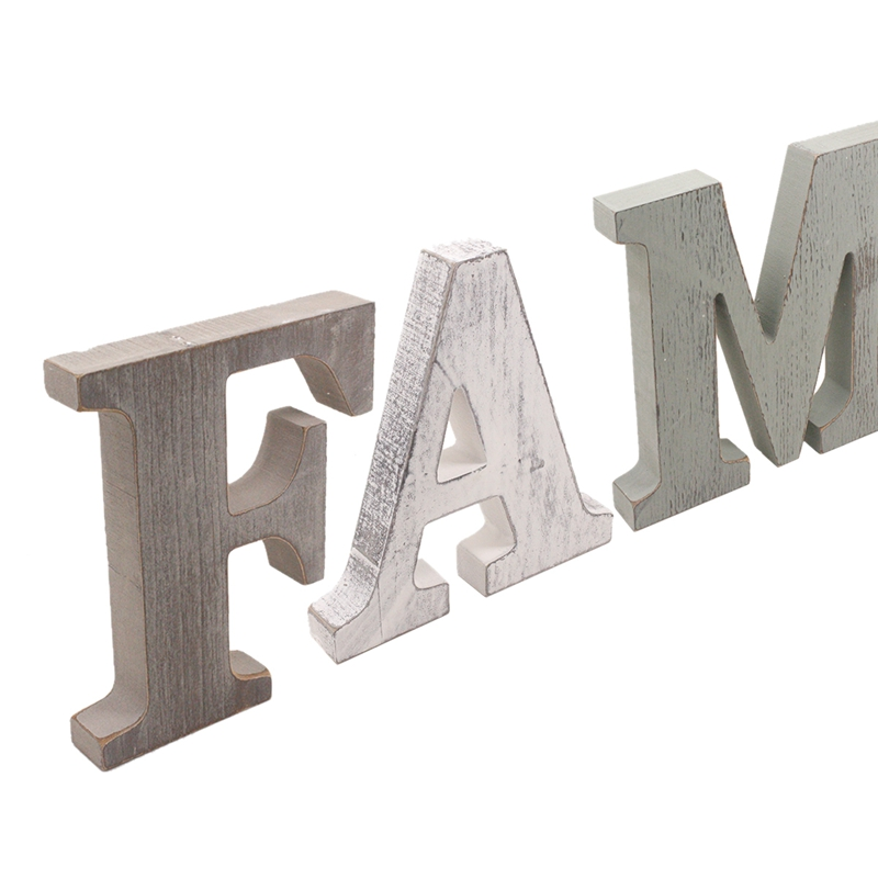 1X-034-Family-034-Decorative-Wooden-Letters-Large-Wood-for-Wall-Decor-in-Rustic-WY1N8 thumbnail 7