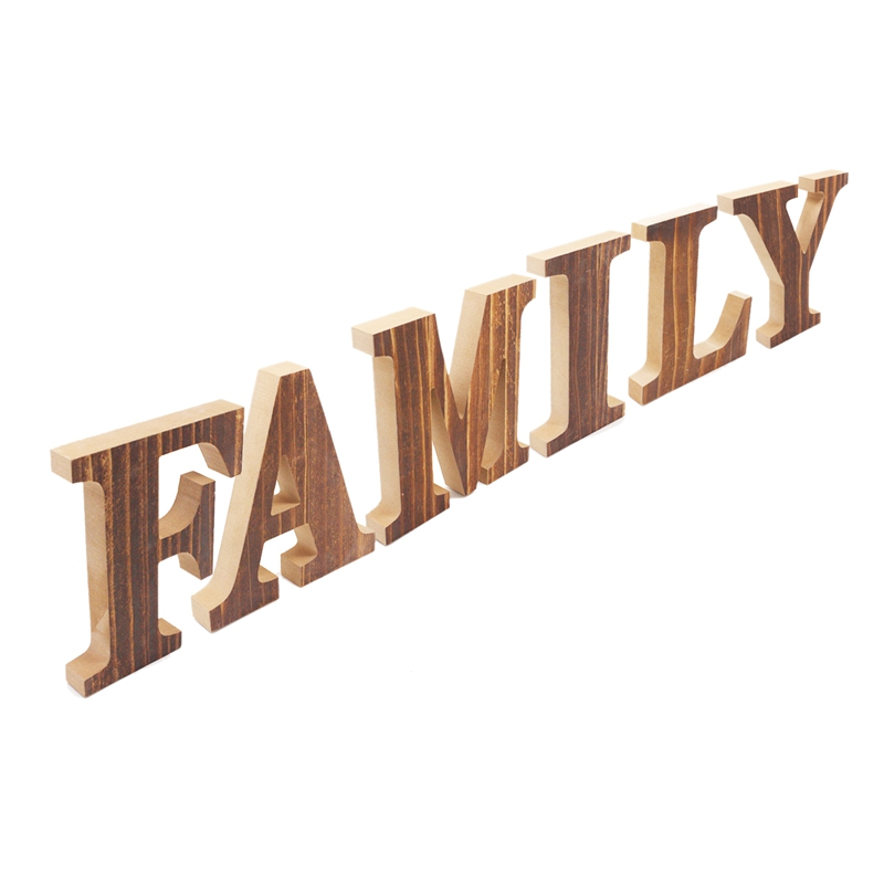 1X-034-Family-034-Decorative-Wooden-Letters-Large-Wood-for-Wall-Decor-in-Rustic-WY1N8 thumbnail 9