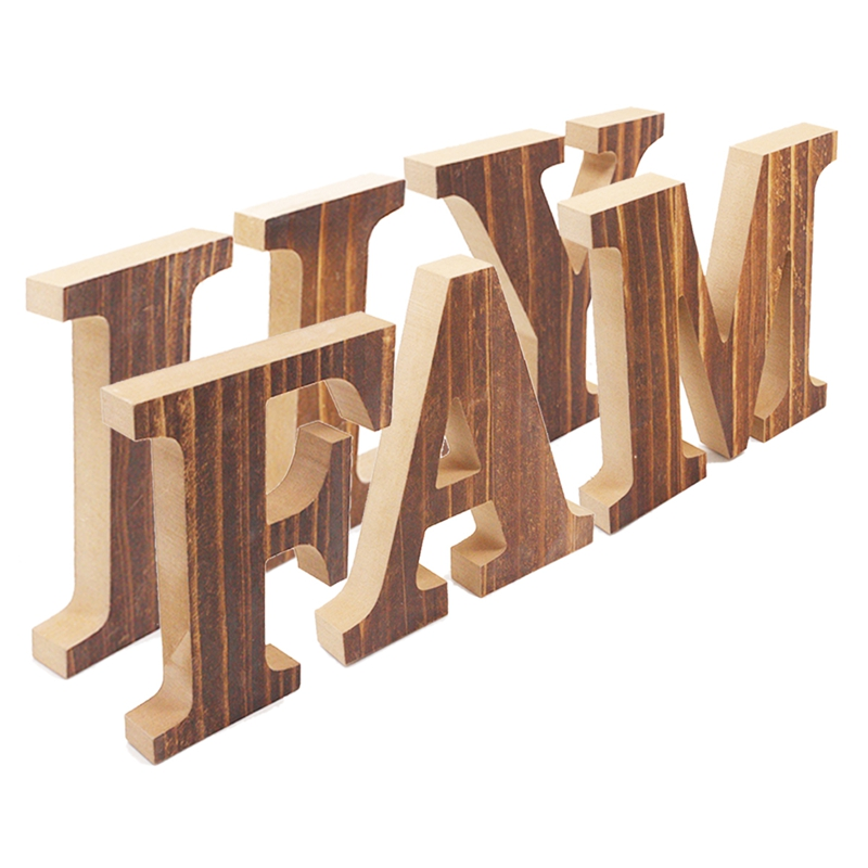 1X-034-Family-034-Decorative-Wooden-Letters-Large-Wood-for-Wall-Decor-in-Rustic-WY1N8 thumbnail 10
