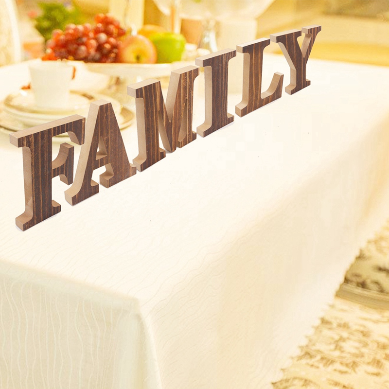 1X-034-Family-034-Decorative-Wooden-Letters-Large-Wood-for-Wall-Decor-in-Rustic-WY1N8 thumbnail 11