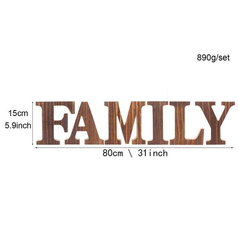 1X-034-Family-034-Decorative-Wooden-Letters-Large-Wood-for-Wall-Decor-in-Rustic-WY1N8 thumbnail 12