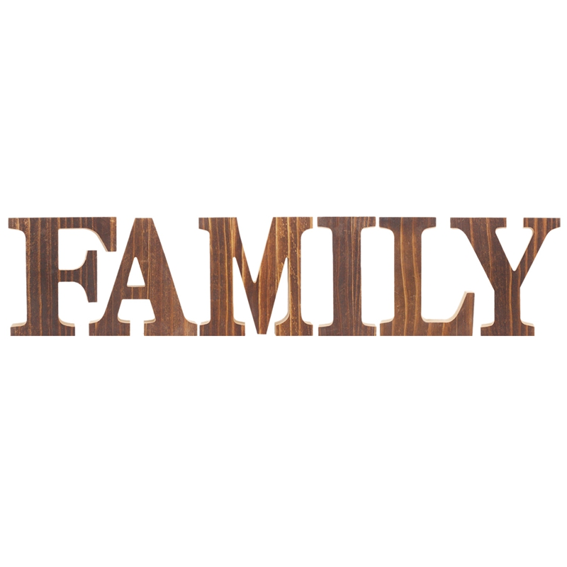 1X-034-Family-034-Decorative-Wooden-Letters-Large-Wood-for-Wall-Decor-in-Rustic-WY1N8 thumbnail 8