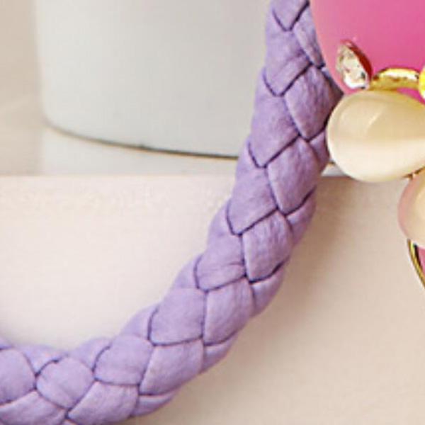 Regalo-Creativo-Rhinestone-Cute-Gourd-Car-Key-Chain-Mujer-Bolsa-Colgante-Llavero miniatura 7