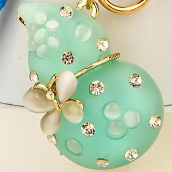 Regalo-Creativo-Rhinestone-Cute-Gourd-Car-Key-Chain-Mujer-Bolsa-Colgante-Llavero miniatura 10